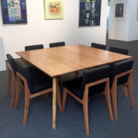 stirling square dining table with upholstered chair