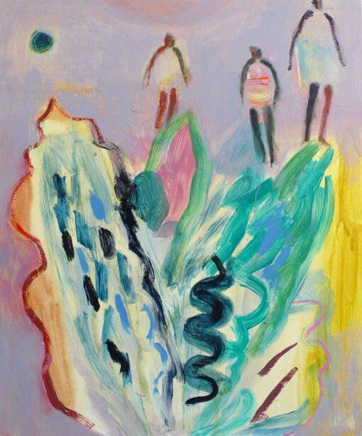 becky balir violet sundown painting fine art