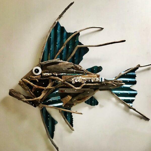 Charles Wilcox Haviana From Hamelin Bay Driftwood Iron Sculpture 1