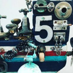 charles wilcox the abalone hunter reclaimed objects sculpture