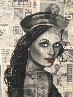 Charles Wilcox   The Sailor Newspaper Girl Fine Art