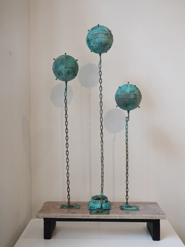 Charles Wilcox Waiting For Contact N5 Reclaimed Objects Sculpture