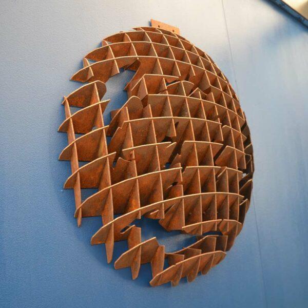 Georgia Morgan Circling Sharks Metal Sculpture Wall Hanging