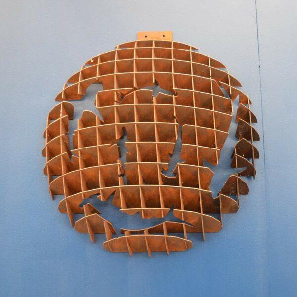 Georgia Morgan Circling Sharks Metal Sculpture Wall Hanging F