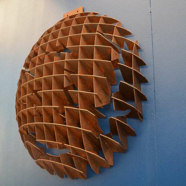 Georgia Morgan Circling Sharks Metal Sculpture Wall Hanging S