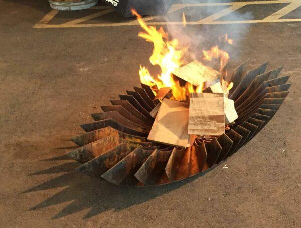 Georgia Morgan Elipse Sculptural Fire Pit Metal 4