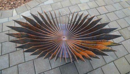 Georgia Morgan Elipse Sculptural Fire Pit Metal