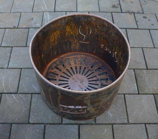 georgia morgan fire pit metal sculpture