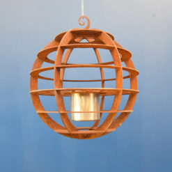georgia morgan hanging float ethanol burner metal sculpture