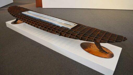 georgia morgan longboard ethanol heater metal sculpture