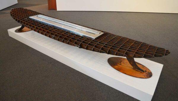 Georgia Morgan Longboard Ethanol Heater Metal Sculpture 1