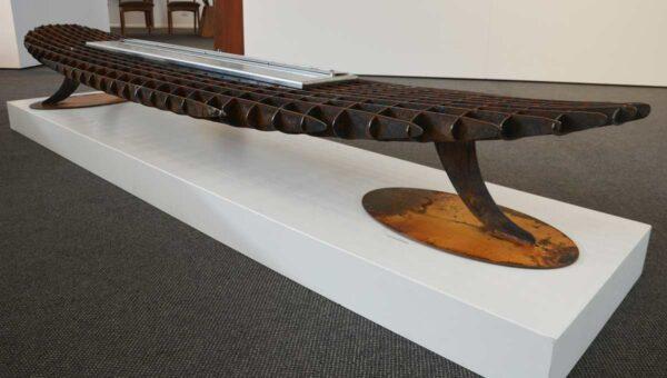 Georgia Morgan Longboard Ethanol Heater Metal Sculpture 2