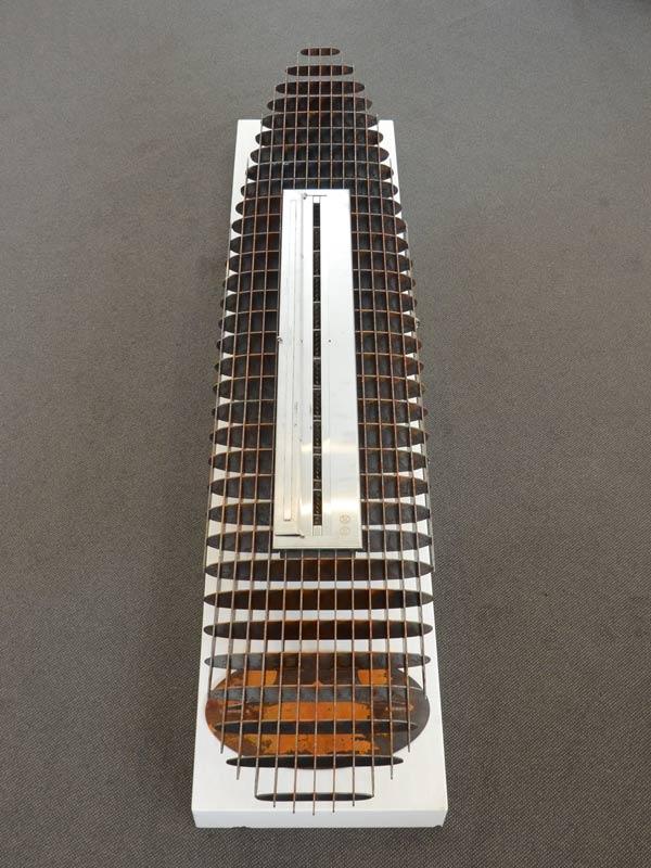 Georgia Morgan Longboard Ethanol Heater Metal Sculpture 4