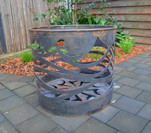 georgia morgan oceanfire fire pit metal sculpture