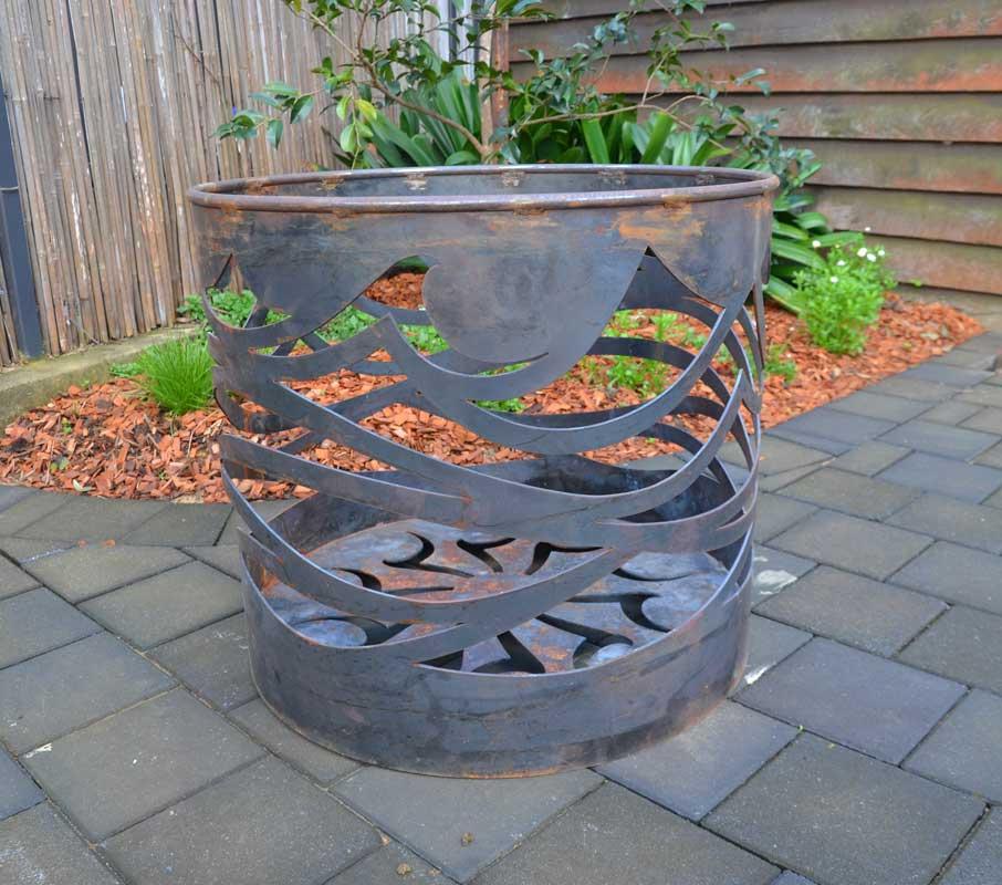 Georgia Morgan Oceanfire Fire Pit Metal Sculpture 1