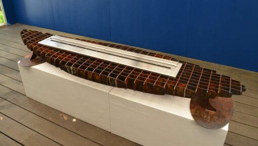 georgia morgan surfboard sculptural ethanol heater