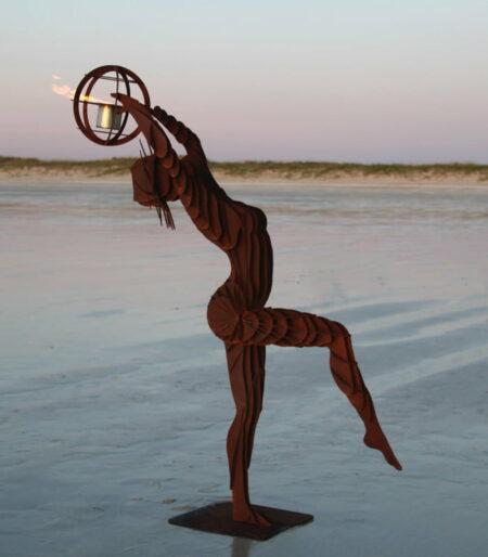 Georgia Morgan The Flaming Jillaroo Sculpture Ethanol Burner
