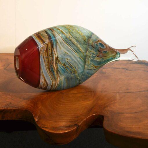 Rick Cook Fish Form Glass Art