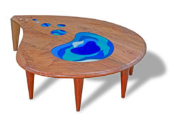 Lagoon Coffee Table with Art Glass Fine Art