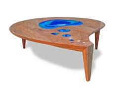 Lagoon Coffee Table with Art Glass Fine Art