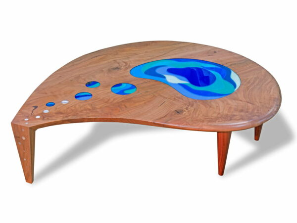 Lagoon Coffee Table Marri With Glass Commission