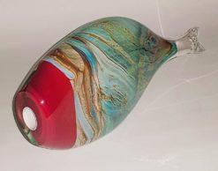 rick cook fish form glass sculpture