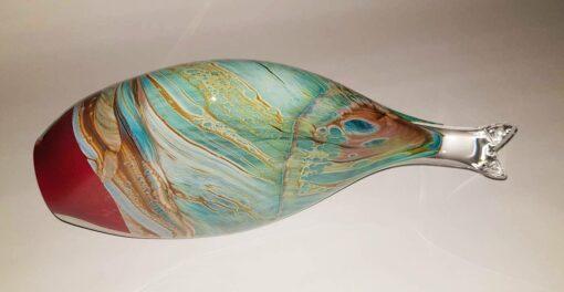 Rick Cook Fish Form Glass Sculpture 2 1