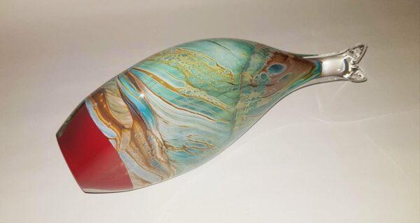 Rick Cook Fish Form Glass Sculpture 3 1