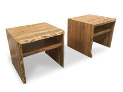 shinto raw edge marri side tables