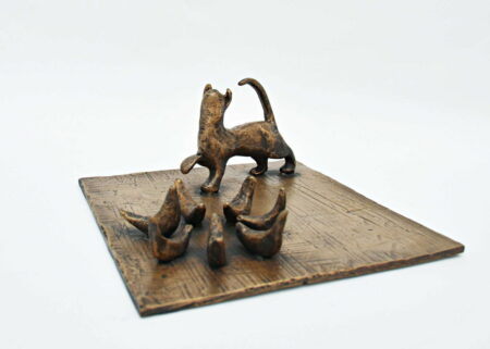 Yuko Takahashi Let Me Join Youcat And Pigeonsbronze Sculpture Fine Art 2