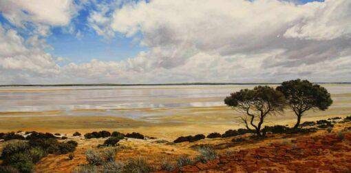christine lawrence mongers lake painting