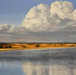 christine lawrence storm clouds no painting