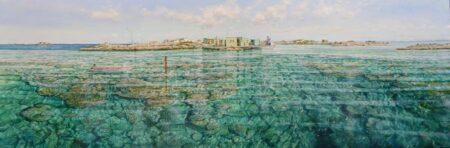 Larry Mitchell Burnett Island Abrohlos Painting