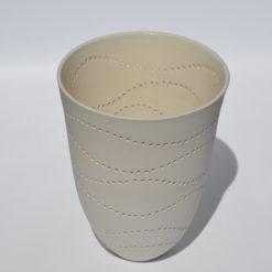 dgr dariya gratte pierced porcelain vase