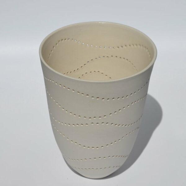 Dgr36 Dariya Gratte Pierced Porcelain Vase 150