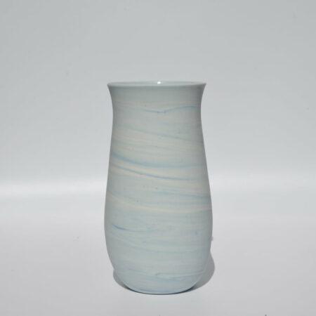Dgr47 Dariya Gratte Blue Swirl Poreclain Vase Small 90
