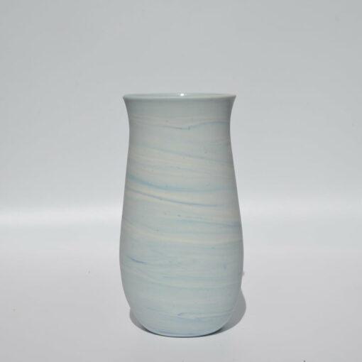 dgr dariya gratte blue swirl poreclain vase small