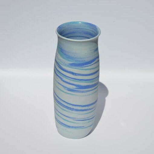 dgr dariya gratte blue swirl vase large