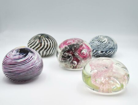 Gordon Studio Glass Tiffany Paper Weights