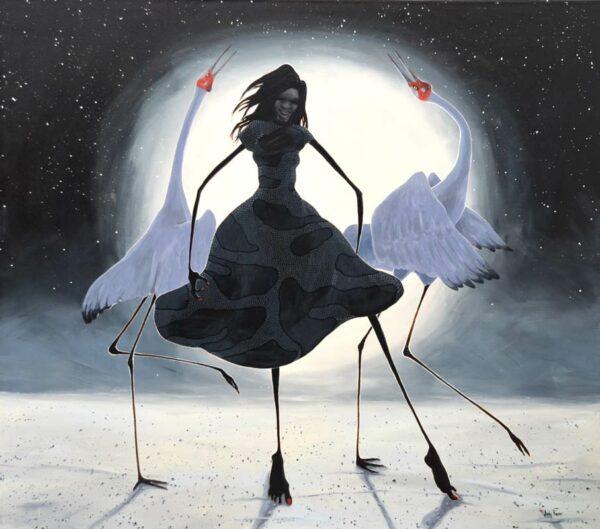 Judy Prosser Full Moon Dancer Painting 1