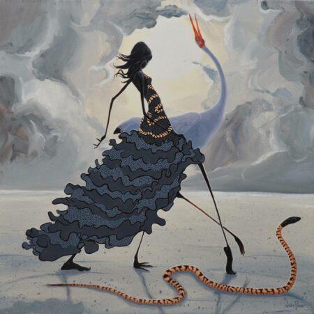 Judy Prosser Snake Dancer Painting 1