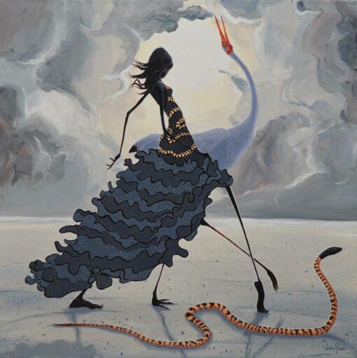 judy prosser snake dancer painting