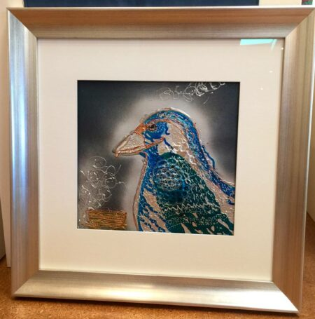Karin Luciano Protecting The Nest Painting Framed