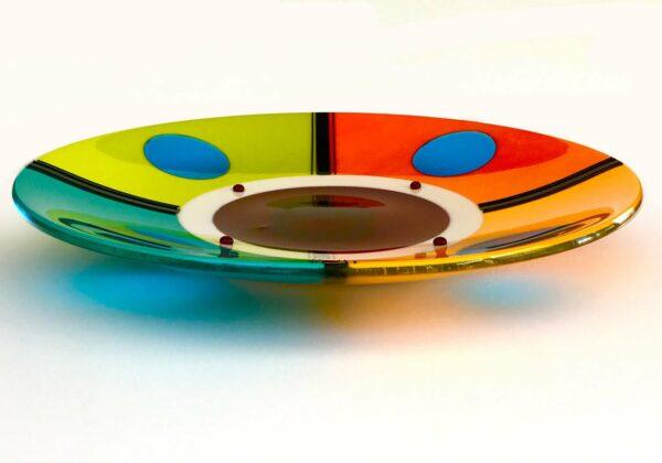 Margaret Heenan Round We Go Glass Platter