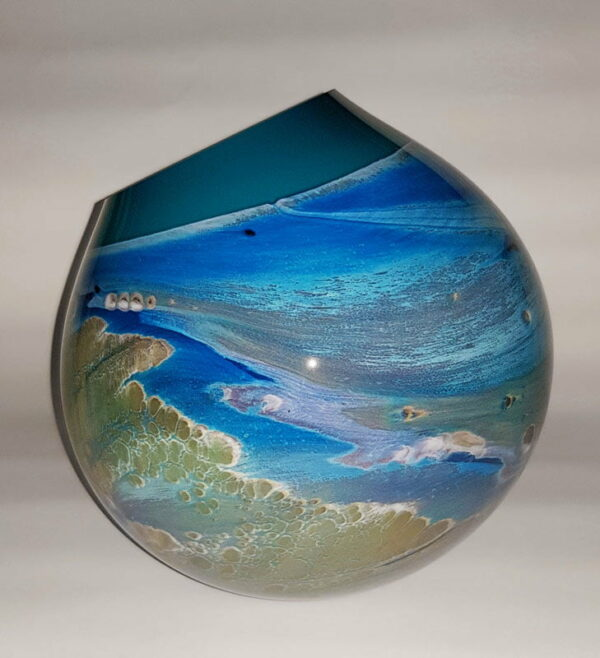 Rick Cook Seascape Eclipse Form Art Glass