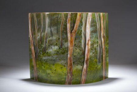 Vivienne Jagger Into The Bush Glass Panel