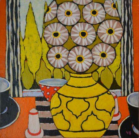 Yolande Barker Daisies Painting