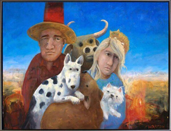 Helen Norton Outback Family Framed Painting