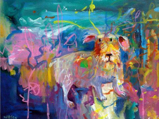 helen norton terrier in park painting