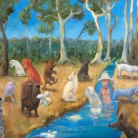 helen norton the dogs picnic painting